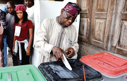 Image result for OBASANJO VOTING 2019