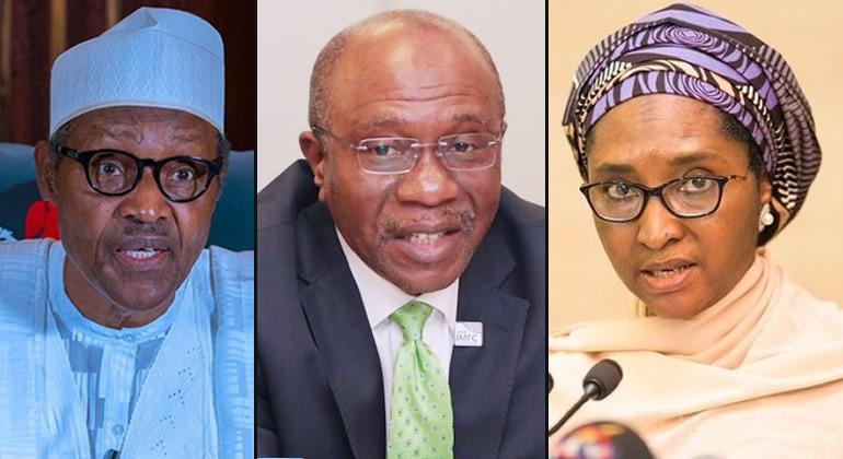 Buhari, Emefiele and Ahmed