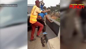 A police officer who fell off a bridge discharged from hospital -PPRO – Punch Newspapers