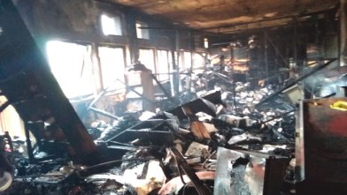 The burnt office
