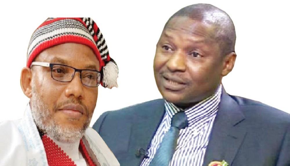 Nnamdi Kanu and Abubakar Malami (SAN)