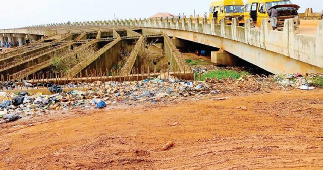 One of the abandoned bridges in Ogun State