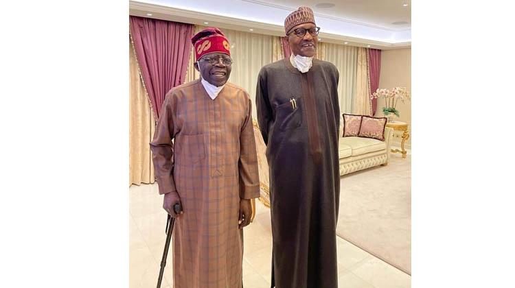 Tinubu visits Buhari in London