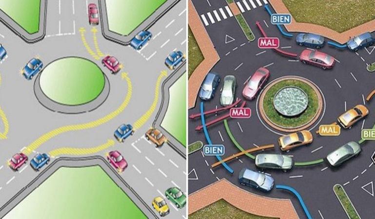 Rotondas: 2 de cada 3 conductores desconocen sus normas