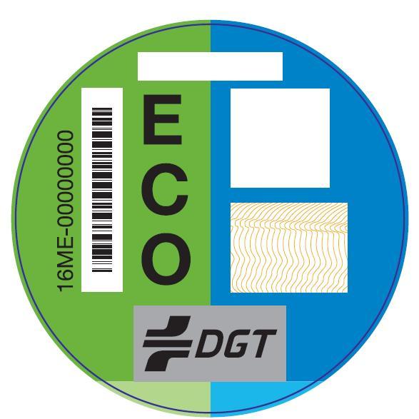 Etiquetas para los vehículos cero emisiones
