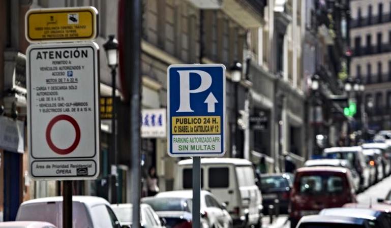 Fallos en la gestión de datos en algunos parkings de Madrid Central