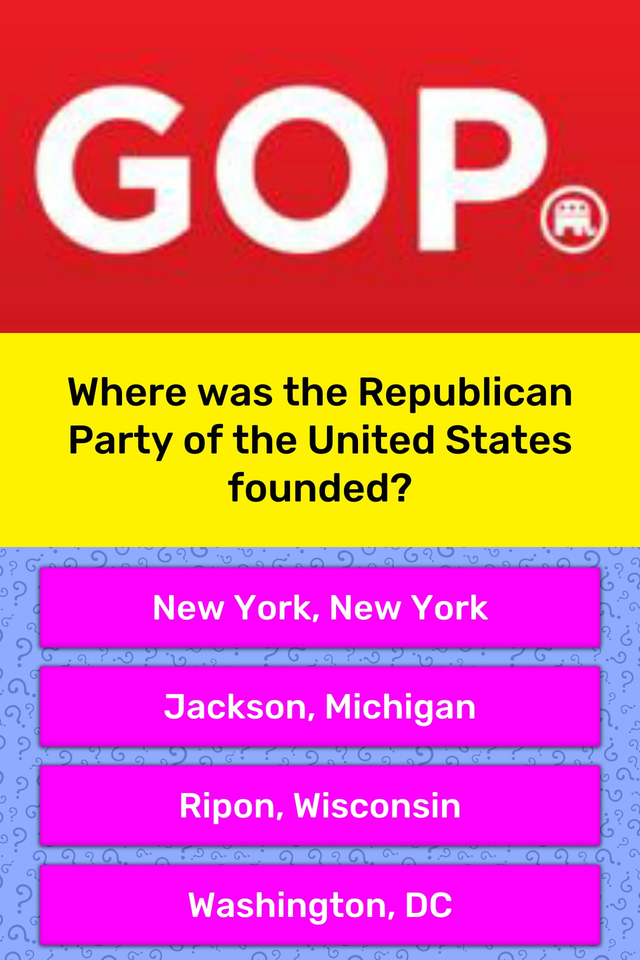 Where Was The Republican Party Of