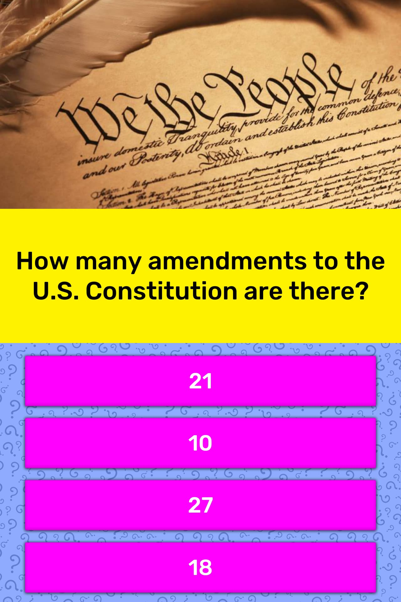 How Many Amendments To The U S