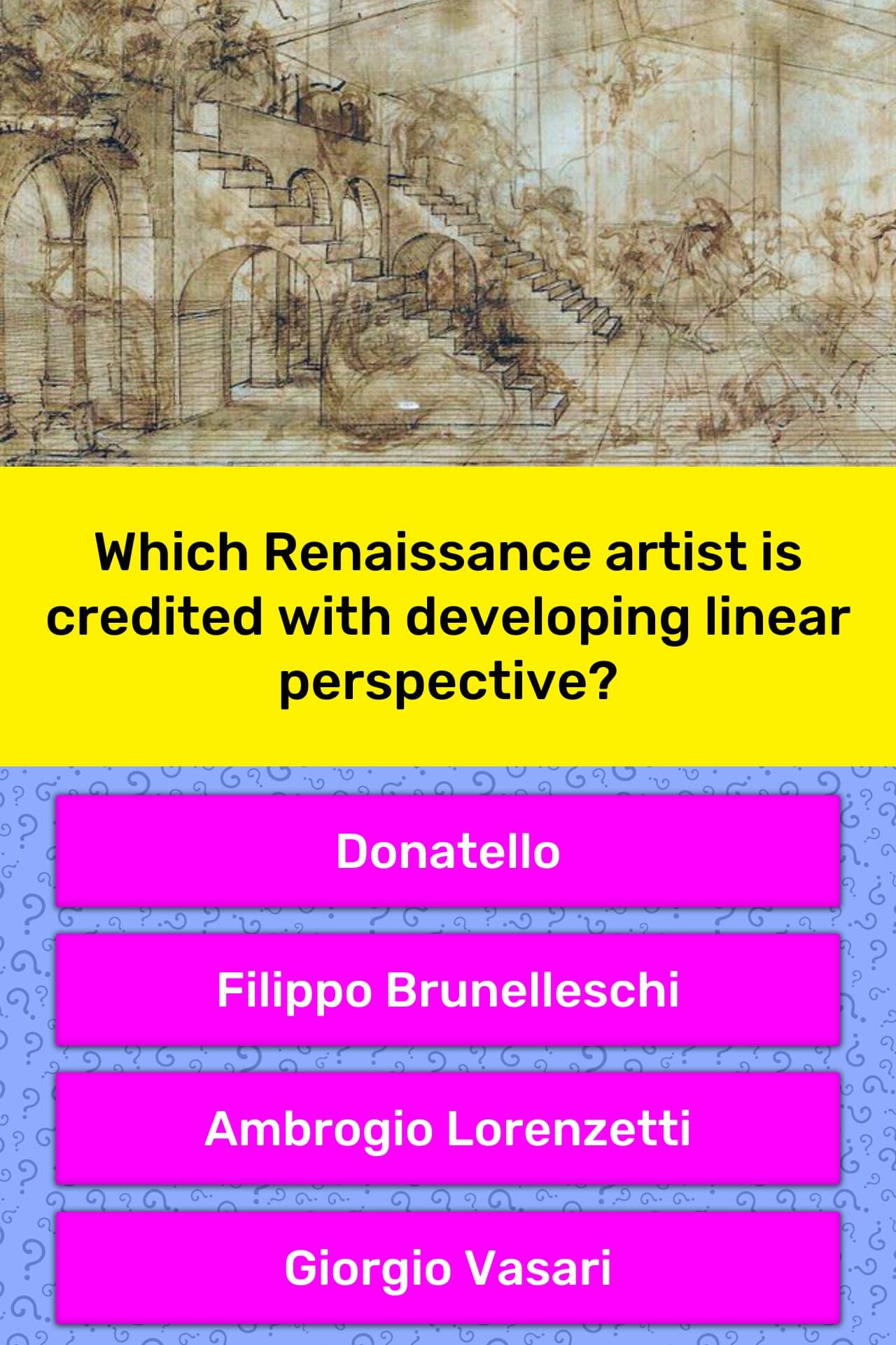 Which Renaissance Artist Is Credited