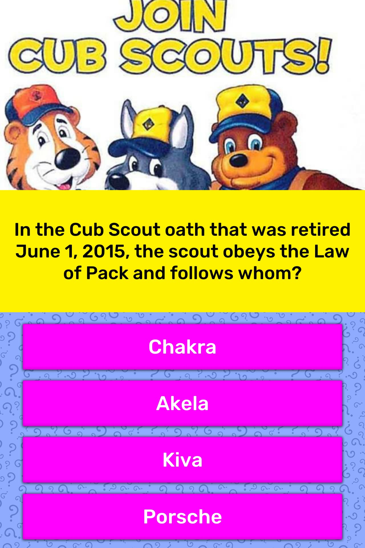 In The Cub Scout Oath That Was