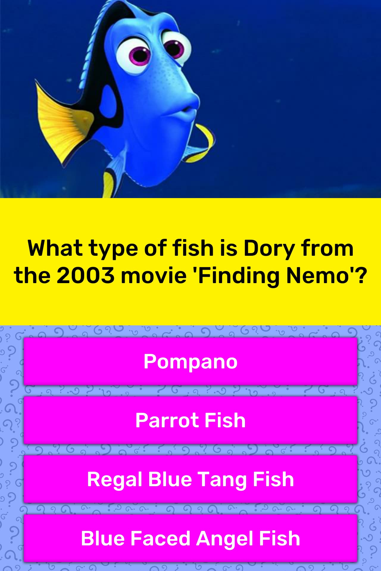 What Type Of Fish Is Dory From The