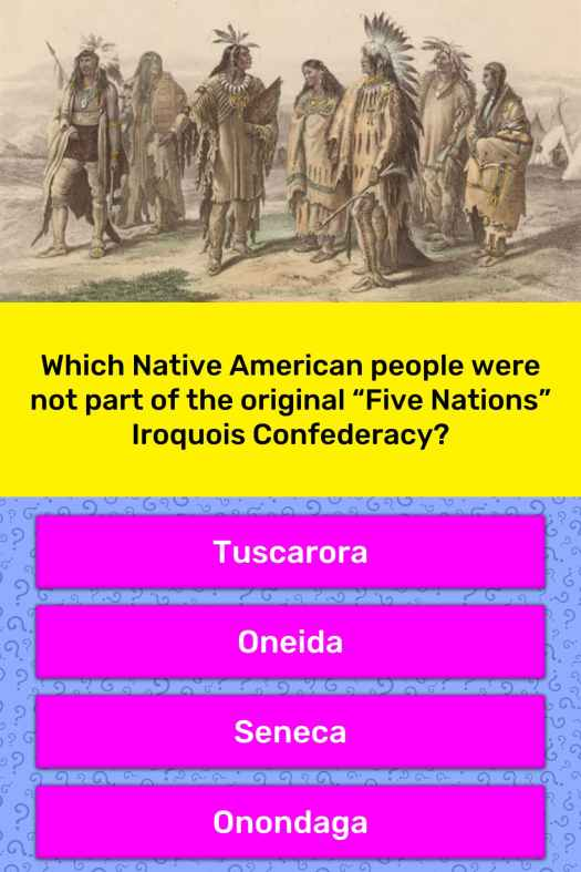 Which Native American people were...   Trivia Answers ...