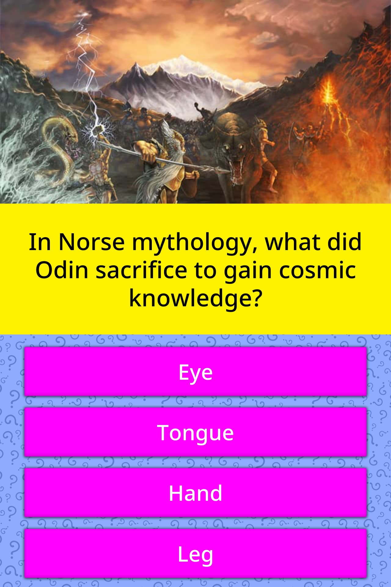 In Norse Mythology What Did Odin