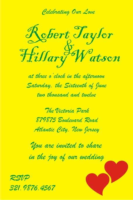 Personal Wedding Cards For Friends