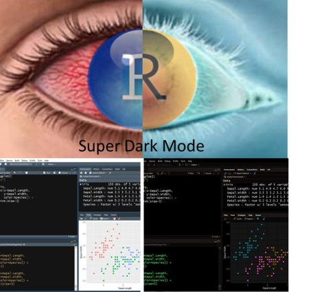 Super Dark R Studio Color Theme