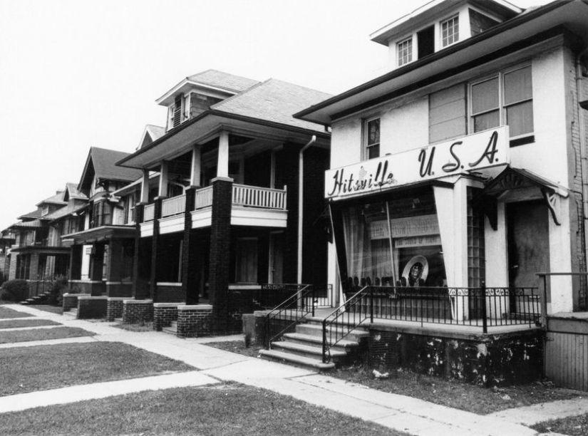 The headquarters of Motown records, circa 1965, in Detroit, Michigan