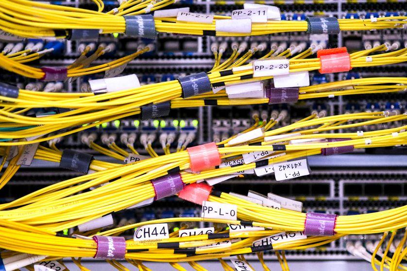Plateforme d'interconnexion appartenant à France IX dans un data center à Paris.