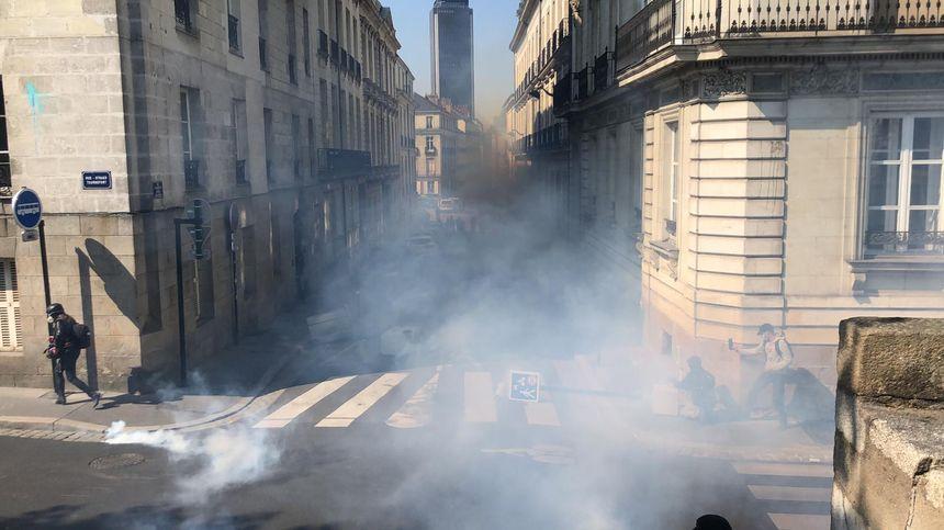 Les forces de l'ordre ont répliqué aux manifestants en gazant massivement les abords de la préfecture des Pays de la Loire, ce samedi à Nantes.