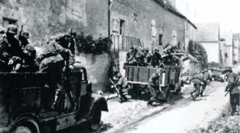 Deuxième division SS Das Reich, passée par Tulle le 9 juin 1944, puis le 10 juin 1944 par Oradour-sur-Glane.
