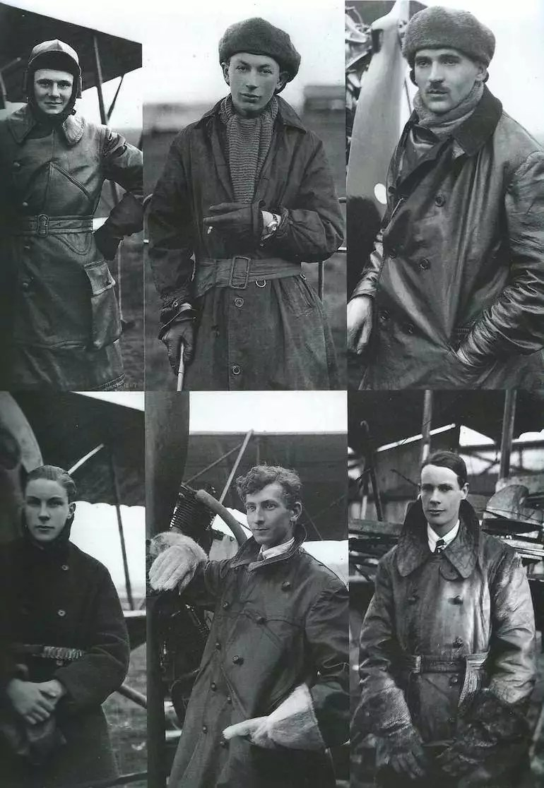 Vintage photos of early flight era pilots