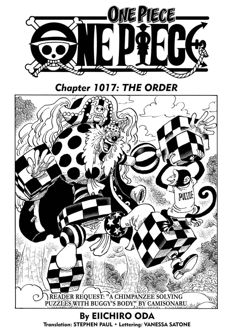 One Piece Chapter 1017 Page 1