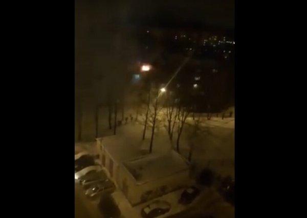 Видео, фото: в Смоленске горит общежитие — Readovka.ru