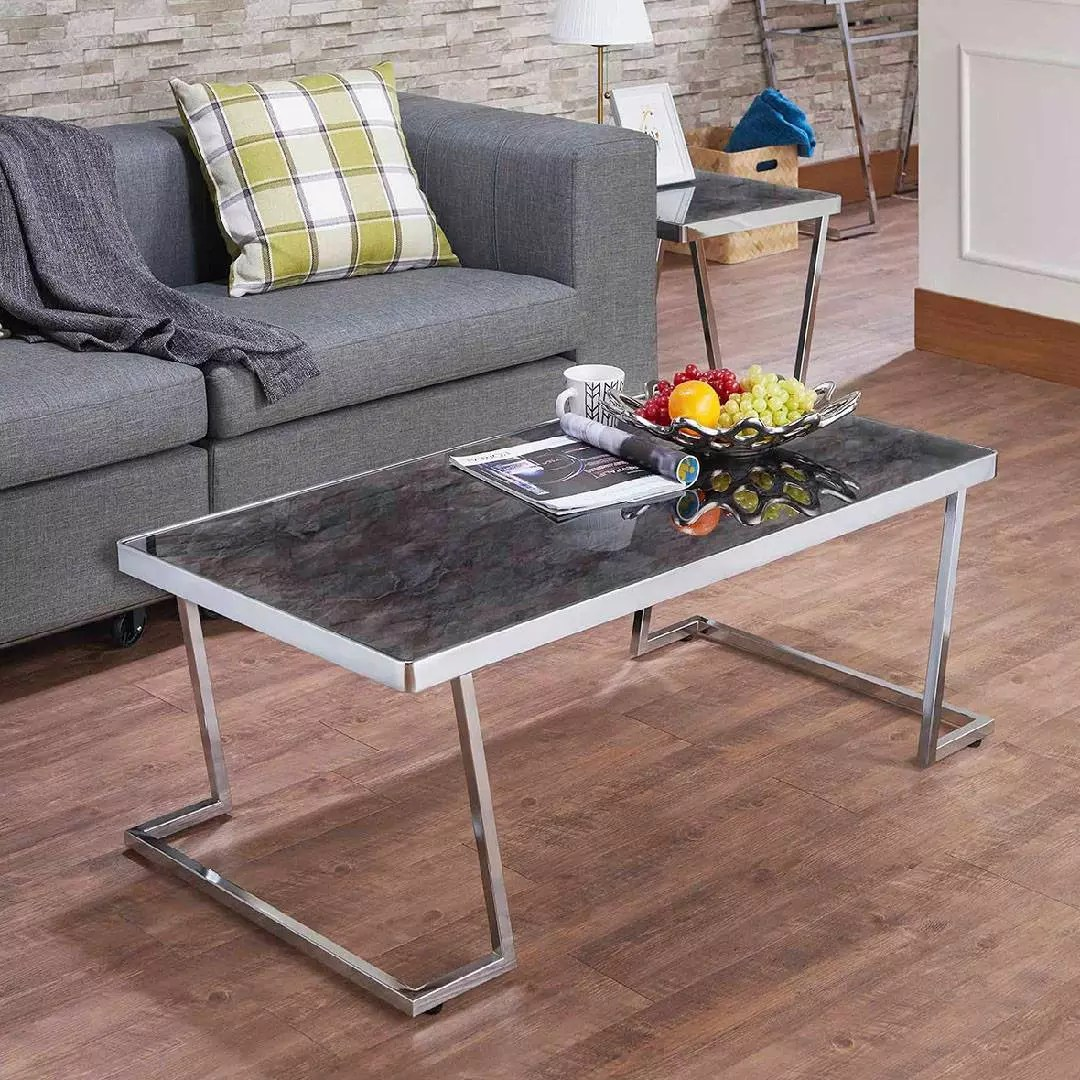 black glass tabletop coffee table