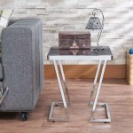V Shape Metal Post Legs Black Glass Side Table Safe Green Furniture Supplier Slicethinner