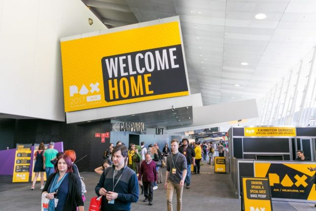 PAX Australia welcome home sign