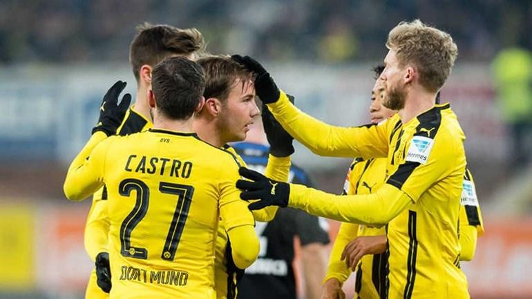 Borussia Dortmund goleia Paderborn com golo deRaphaël Guerreiro