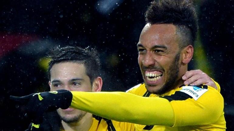 B. Dortmund bate RB Leipzig graças a Aubameyang