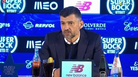 Sérgio Conceição queria mais tempo de compensação: «Depois queremos que o futebol seja fluído...»