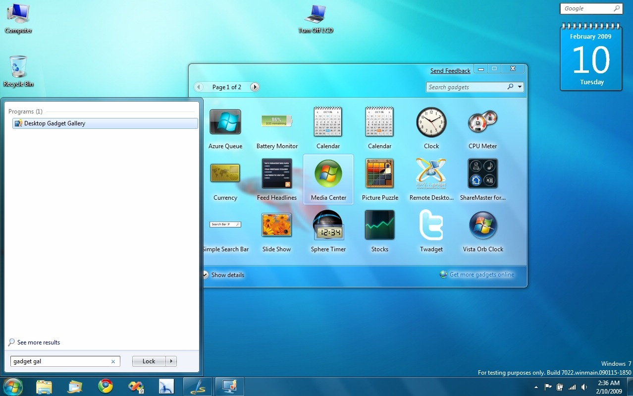 Changes In Windows 7 Build With Screenshots