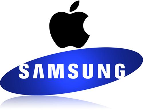 Apple and Samsung Logos