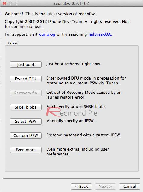 Redsnow_Extras_screen