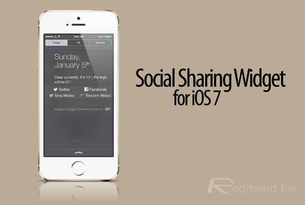 social share widget ios 7