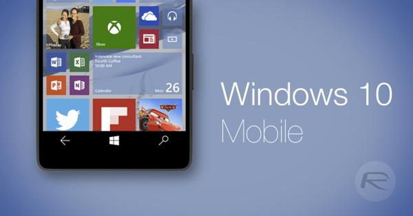 Windows 10 Mobile main