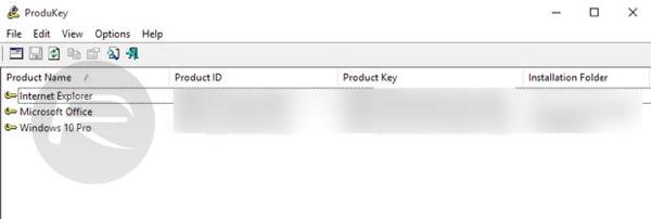 Windows 10 product key ProduKey