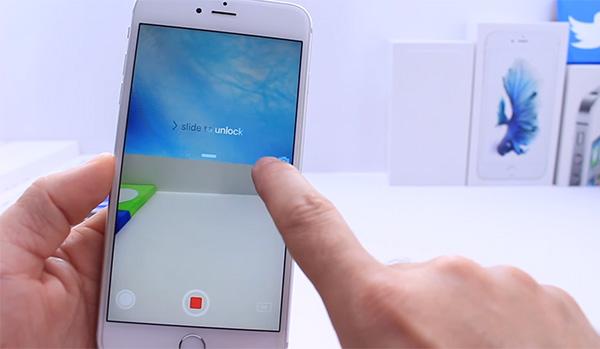 quay video trên iPhone