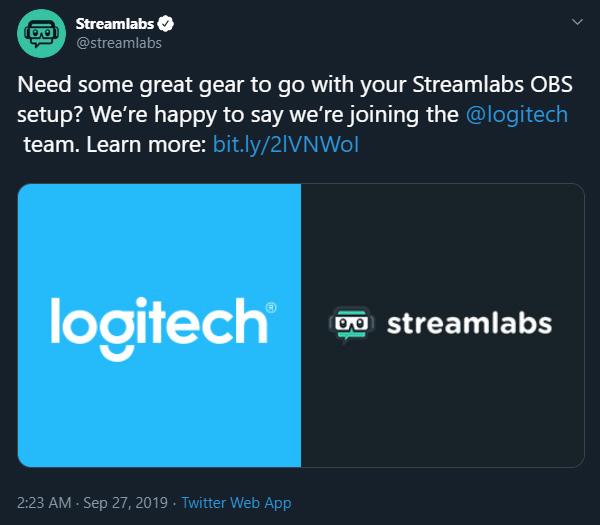 streamlabs tweet