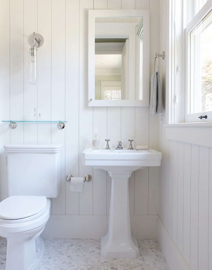 10 Favorites: White Bathrooms from the Remodelista ... on White Bathroom Design Ideas  id=68511