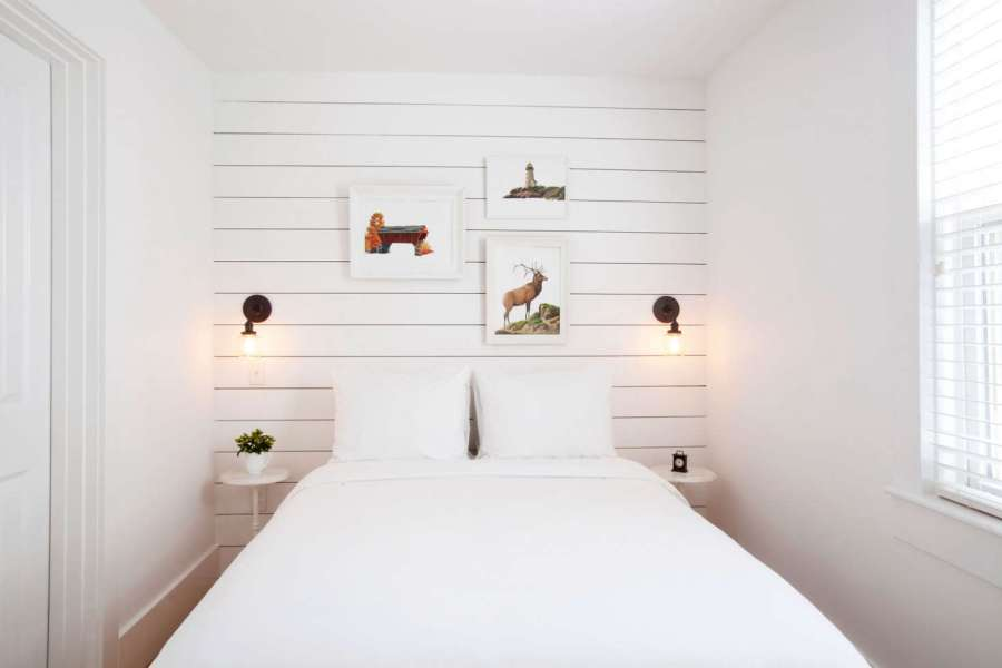 Expert Advice  The Enduring Appeal of Shiplap   Remodelista The shiplap paneling at Salt House Inn in Provincetown leaves some space  between the boards