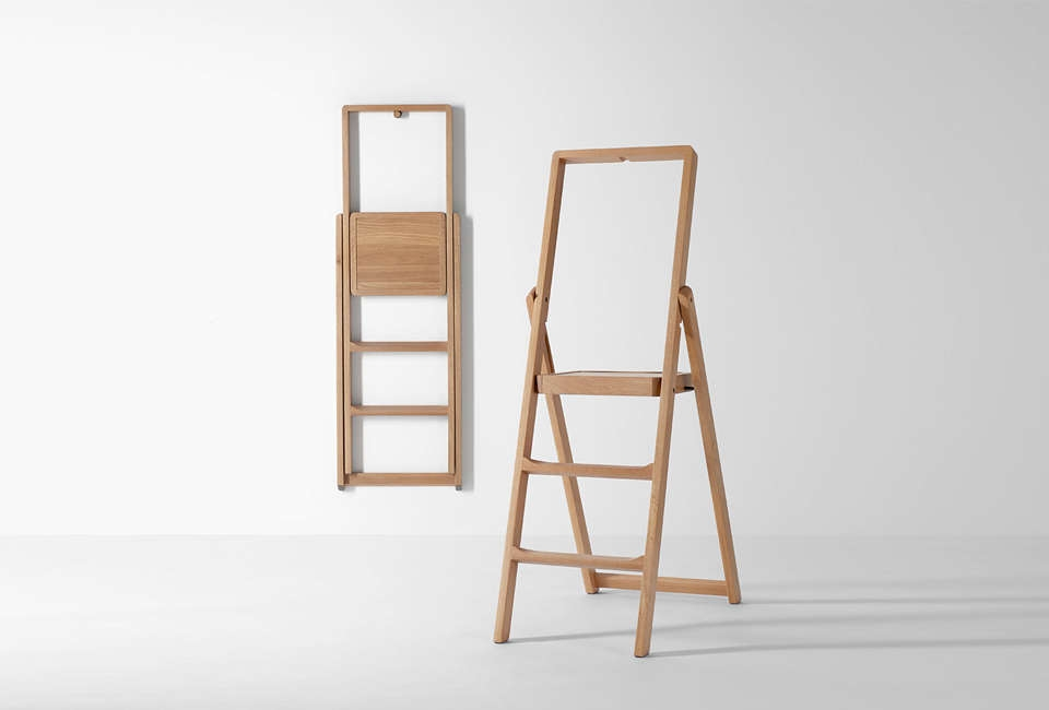 10 Easy Pieces Slim Step Ladders For Small Spaces Remodelista | Ladder Design For Small House | Small Cabin | Inexpensive | Elegant | Easy | Retractable