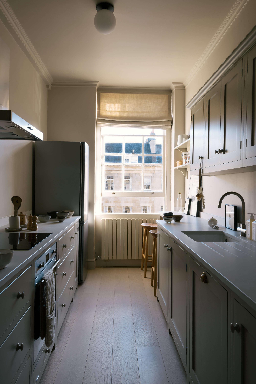 Shaker Galley Kitchen: a Stylish Small Design by deVol for ... on Modern:gijub4Bif1S= Kitchen Remodel  id=51389
