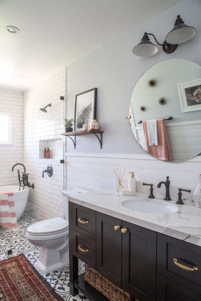 Modern Farmhouse Bath Remodel - Remodelista on Farmhouse Bathroom Remodel Ideas  id=86185