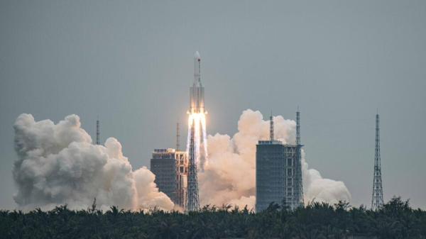 Ступень ракеты, которая отправила модуль КНР в космос ...