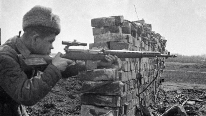Фото: © Герой Советского Союза снайпер Николай Ильин. РИА Новости/Георгий Липскеров