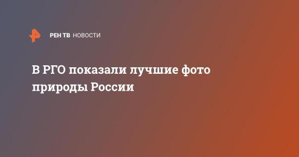 В РГО показали лучшие фото природы России | В России | РЕН ТВ