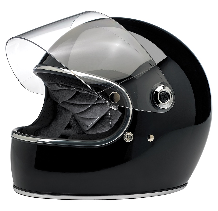 Biltwell Gringo S - ECE Approved Helmet Black Gloss