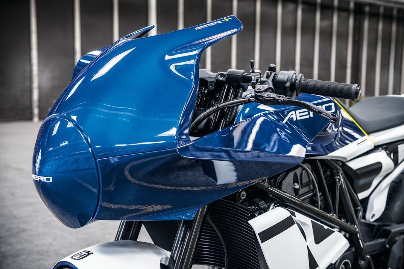 Close-up of front fairing - Vitpilen 701 Aero Concept